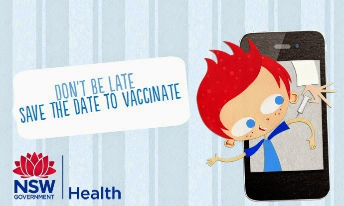 Don't be late - Save the date to vaccinate